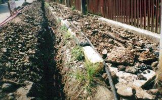 Pekerjaan instalasi listrik Proses penarikan kabel tanah 20 KV